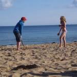 Beach Cricket on Porthbeor