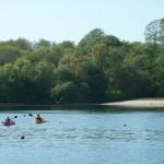 Canoeing off Cellars Beach