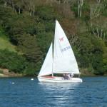 Sailing up Percuil